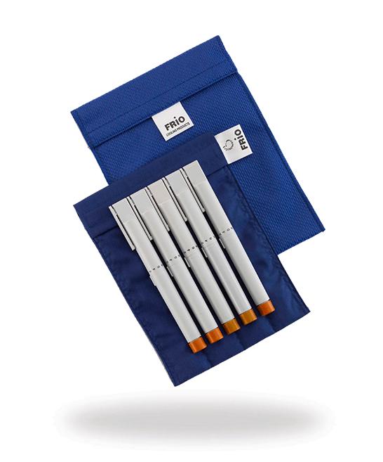 Grand portefeuille bleu stylos épi à insuline